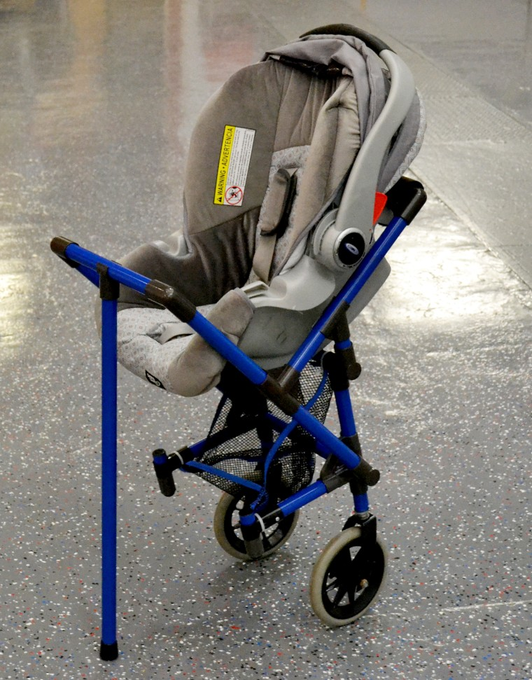 Photos taken of the stroller wheelchair attachment when Kane presented it to Jones.