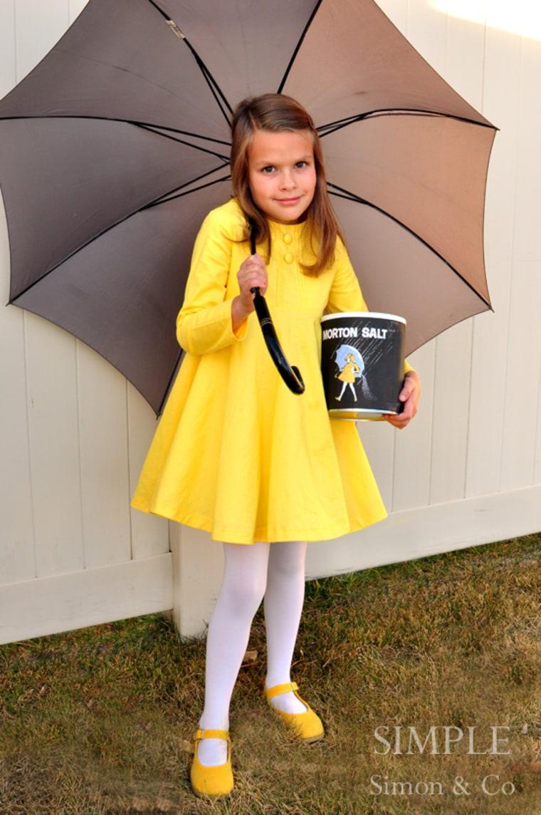DIY Morton Salt Girl Halloween costume