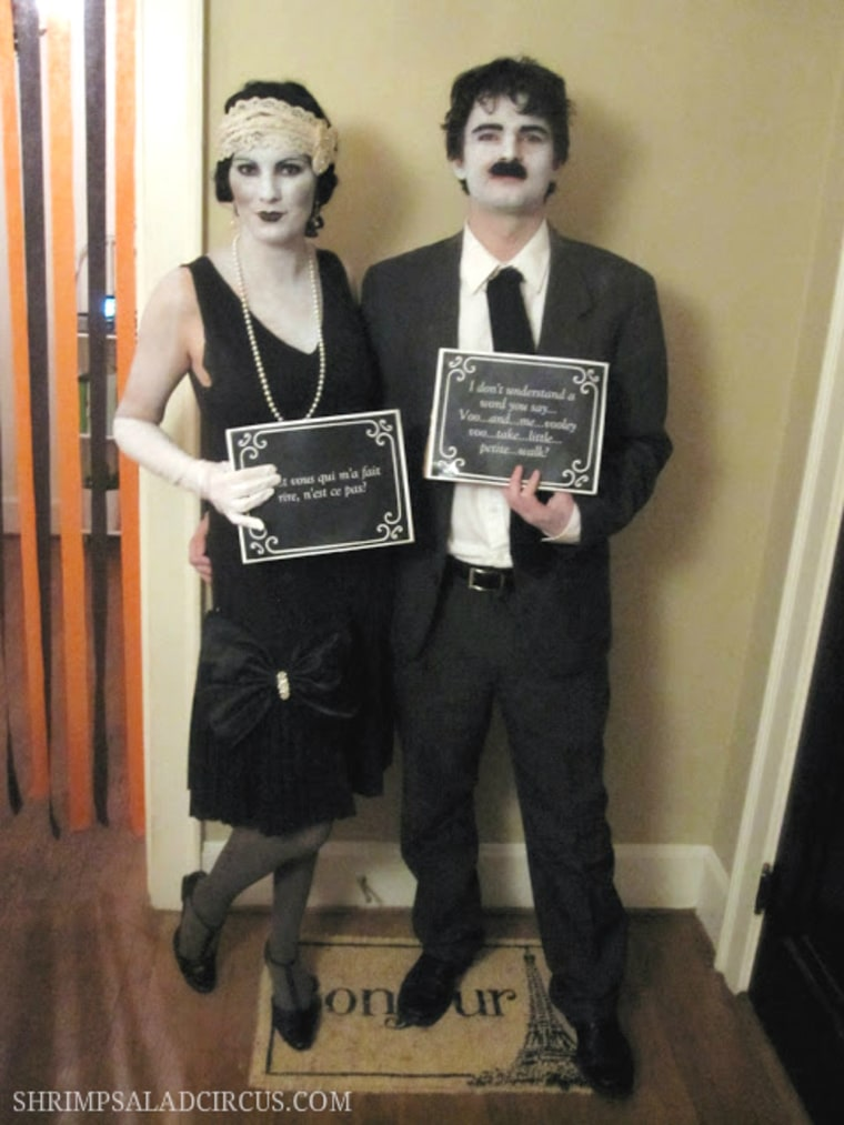 homemade halloween costumes silent film actor halloween costume