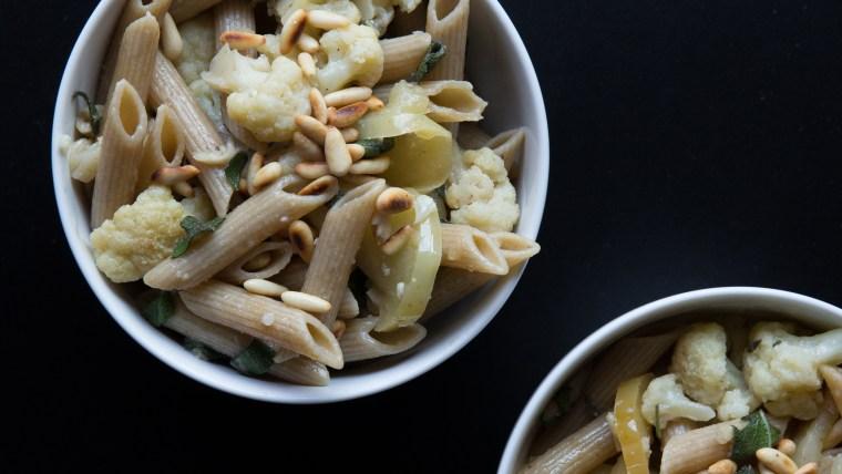 Cauliflower and Apple Pasta Sauce recipe