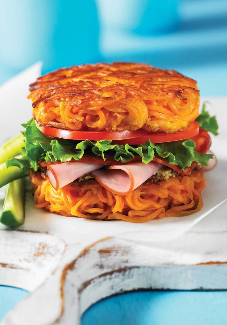 Spiralized Sweet Potato Bun