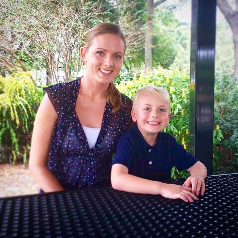 Mandy Lipham and her son, Elliott
