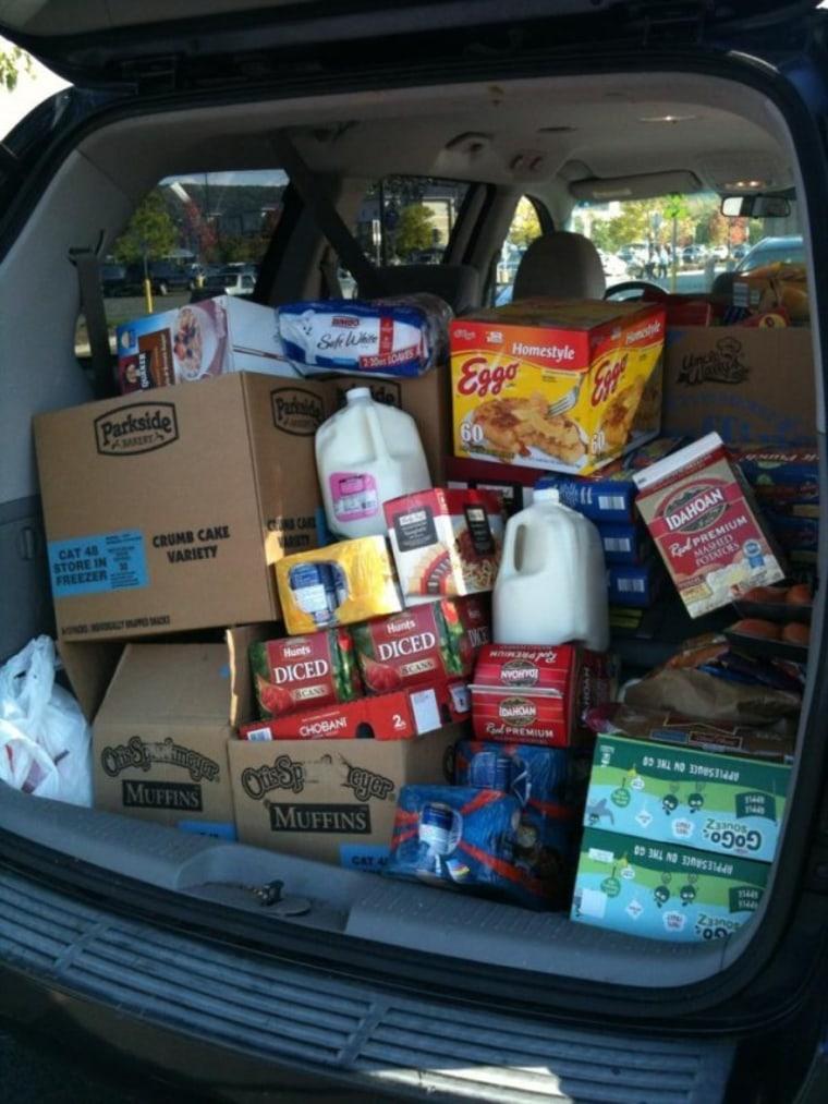 Jennifer Swartvagher's grocery shopping haul