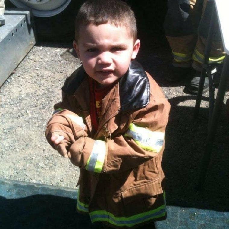 """""""Christian, he is definitely going to be a fireman. No doubt about it,"""" says Connecticut Fire Captain Joe Petrosino."""