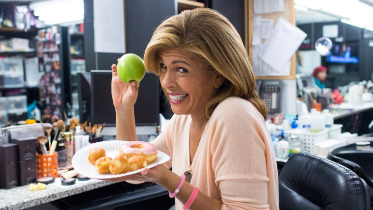 Hoda Kotb gets ready for the TODAY show