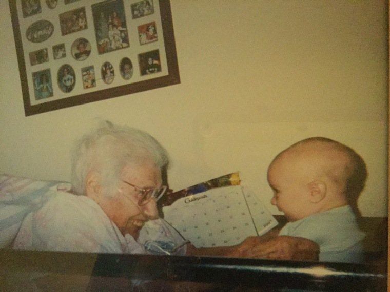 Andrea Restivo Gagnon says her youngest son met his great grandmother for the first time in 1997.