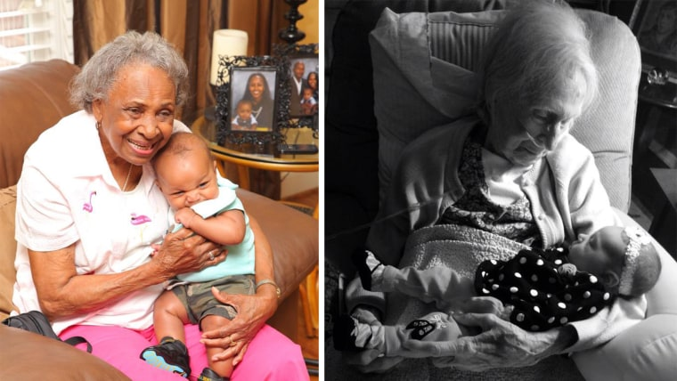 See cute photos of TODAY fans' babies meeting great-grandparents