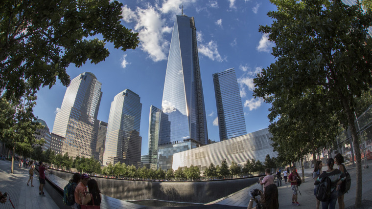 Image: One World Trade Center towers offer the 9/11 Memorial and Museum.