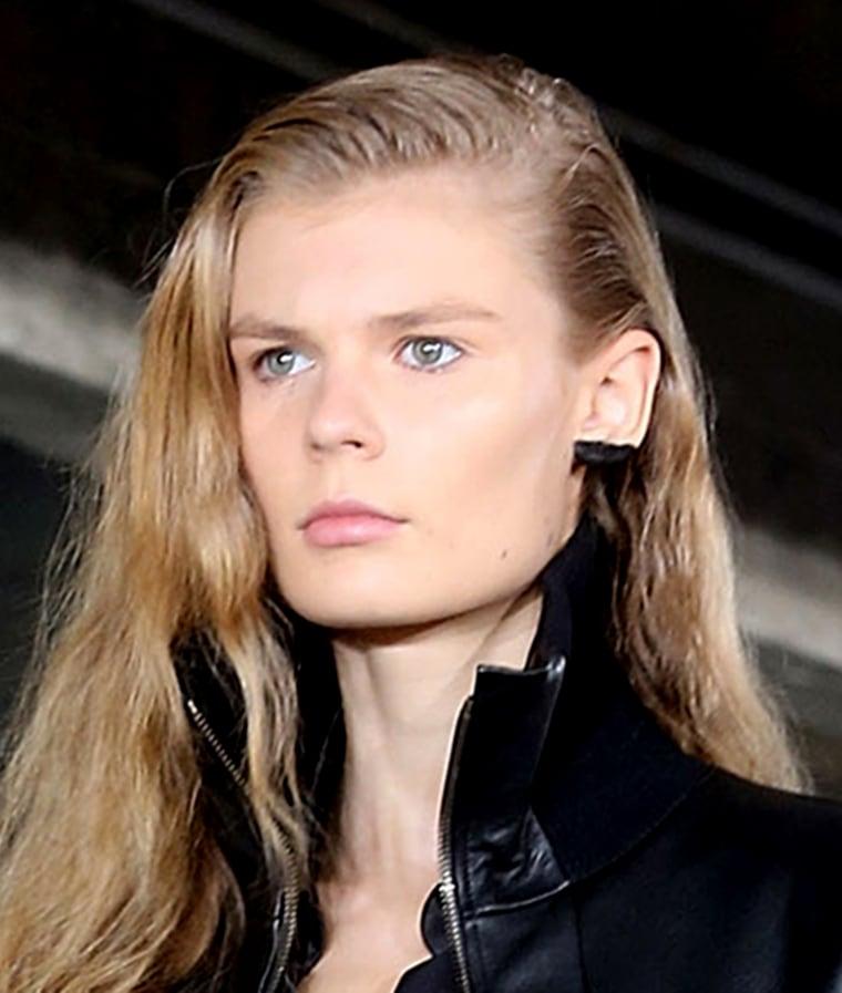 Ear makeup, lobe liner at Paris Fashion Week