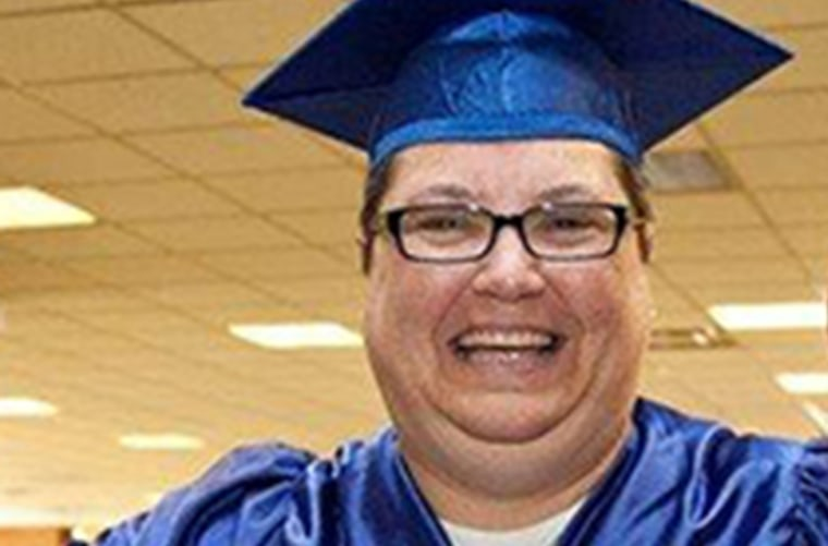 Kelly Gissendaner, death row inmate, celebrates her graduation from a prison theology program in 2011.