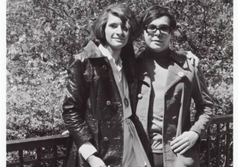 Sylvia Rivera and friend in 1970.