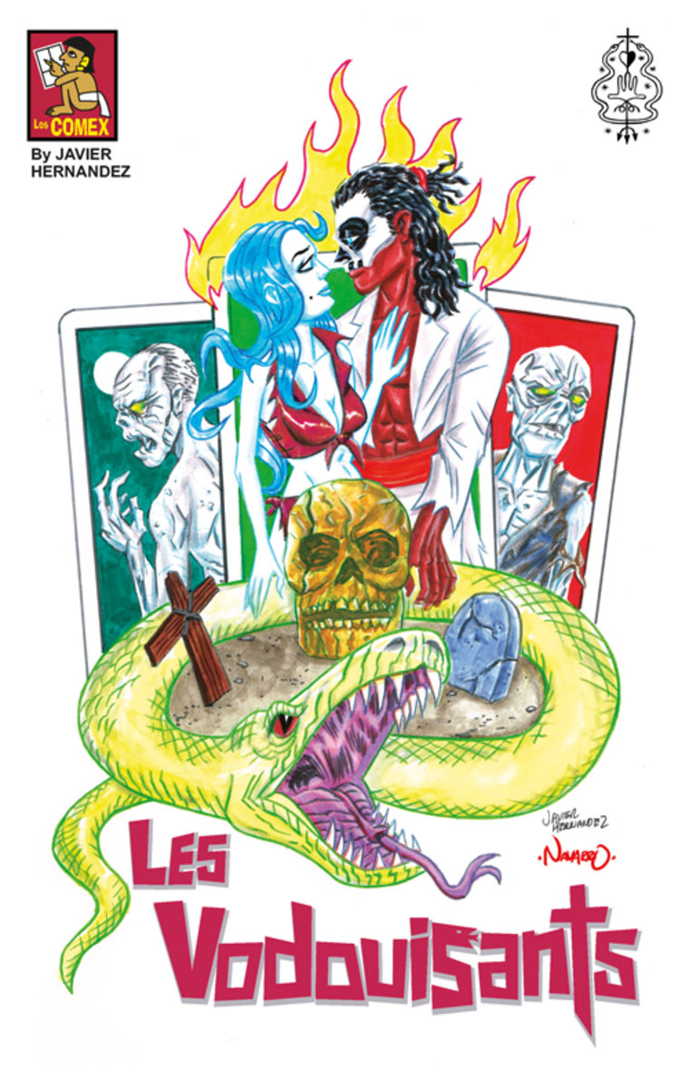 """Picture for Haitian Zombie Comic """"Les Vodouisants"""" cover. Penciled by Javier Hernandez, painted by Rafael Navarro."""