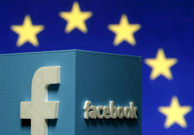Image: Facebook and European Union logos