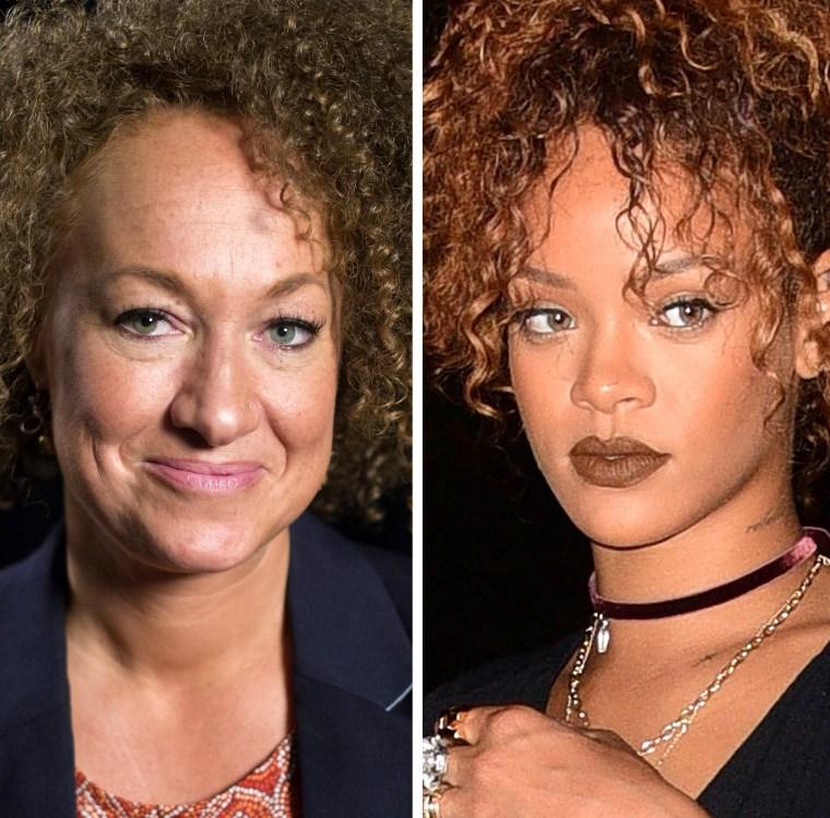 Image: Dolezal and Rihanna