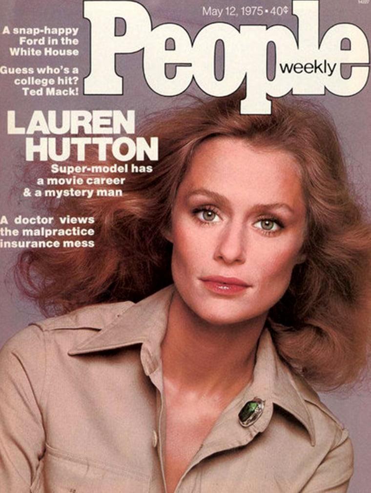 1970's People magazine featuring Lauren Hutton.