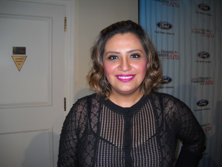 """Actor/comedienne and NHFA honoree Cristela Alonzo at the 19th annual Noche de Gala National Foundation for the Arts, Sept 6 2015. Alonzo says she has become more vocal about Latino representation since her show Cristela got cancelled after one season earlier this year. """"I'm more of an activist now because I have more of a platform to do it."""""""