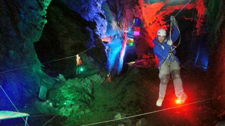 Image: Zip World Caverns