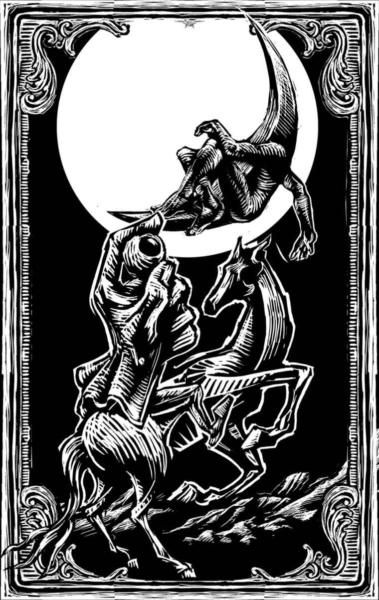 Don Quixote and the Knight of the White Moon, illustrated by the Mexican artist Eko.