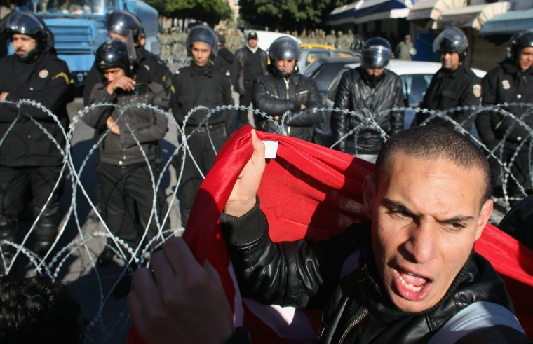 Image: Demonstrations Continue In Tunisia As Calls Come For Dissolution Of Ruling Party