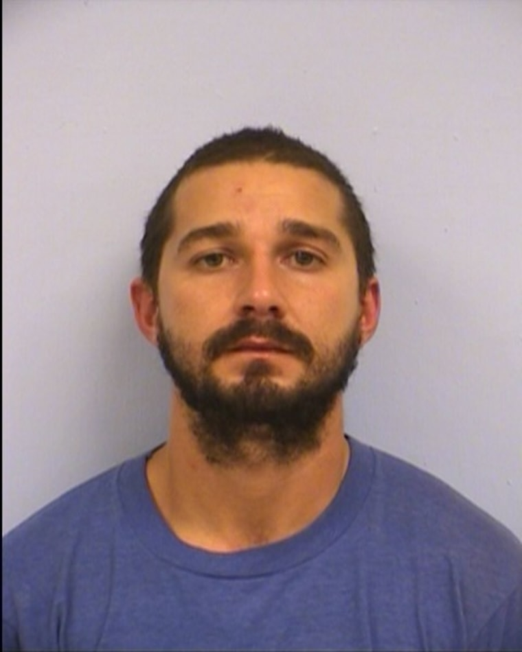 Shia LaBeouf is seen in a mugshot after an arrest for public intoxication in Austin, Texas, on Oct. 9.