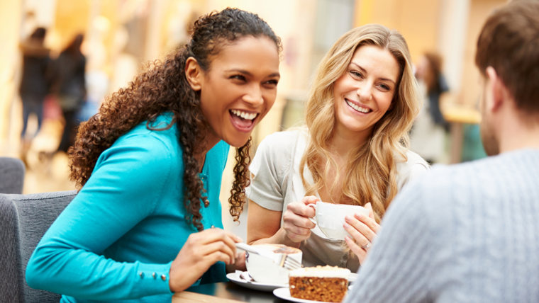Group Of Young Friends Meeting In Cafe; Shutterstock ID 195719327; PO: Brandon for Health