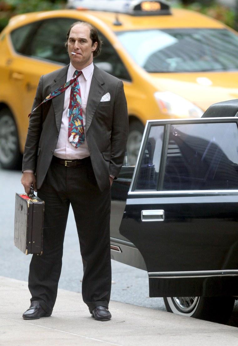 "Matthew McConaughey filming Stephen Gagham's ""Gold"""