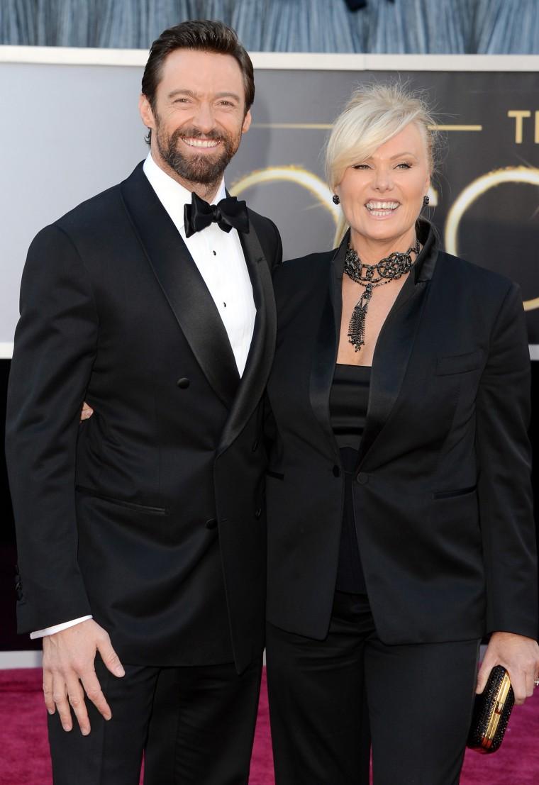 Hugh Jackman and wife Deborah Lee Furness