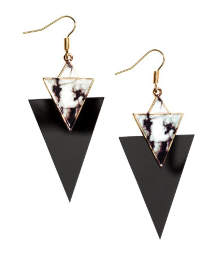 H&M black triangle 'Long Earrings'
