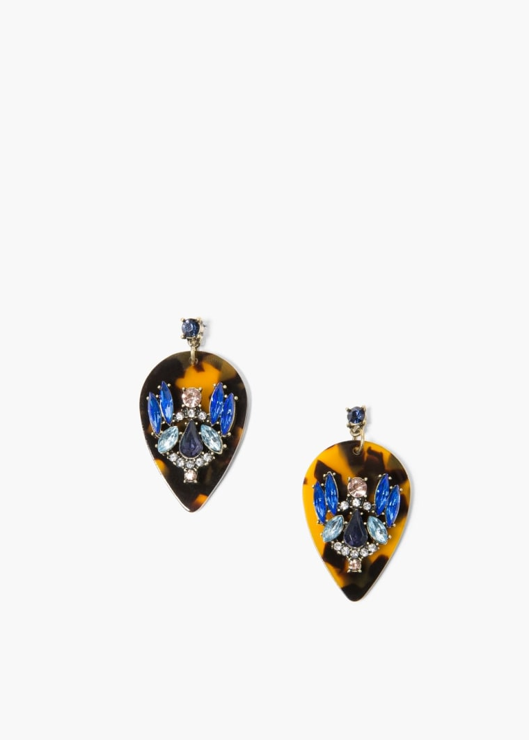 Mango's faceted cyrstal earrings