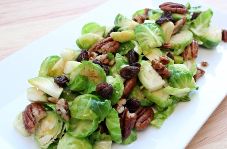 Brussels Sprout Salad with Dijon Mustard Dressing