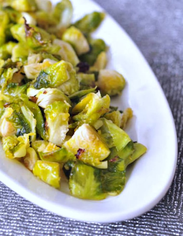 Ginger Lime Brussels Sprouts