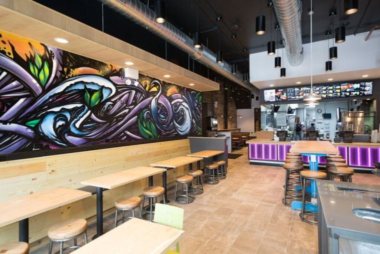 Inside Taco Bell Cantina's Chicago location in Wicker Park