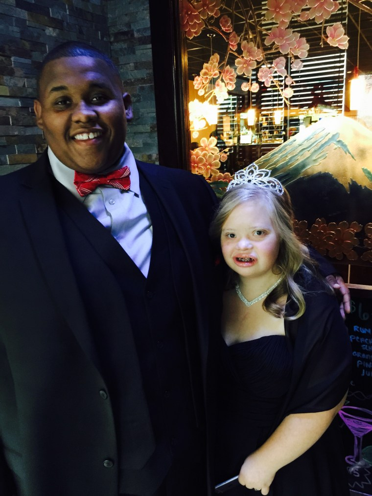 Kendra Hager was crowned homecoming queen at St. Albans High School in West Virginia
