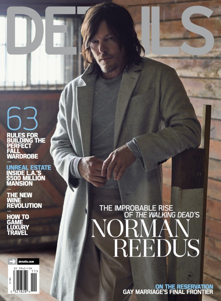 Norman Reedus on the November cover of Details