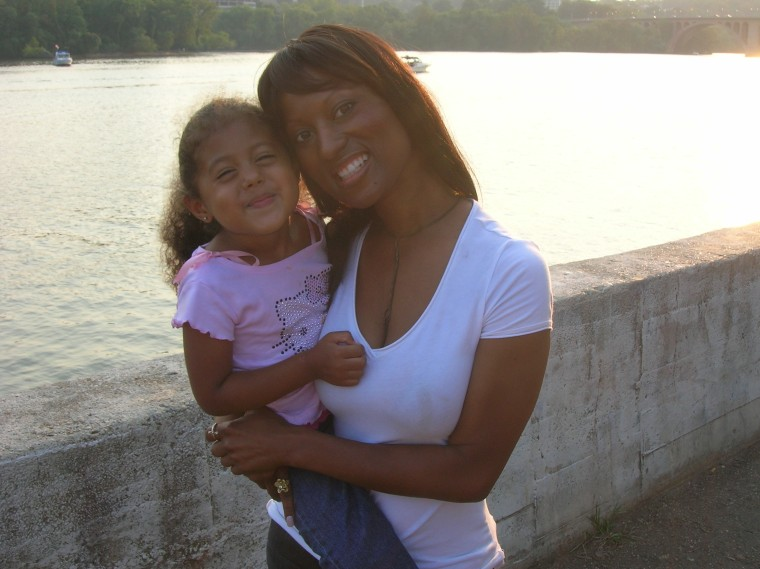 Maimah Karmo with her daughter in 2006.