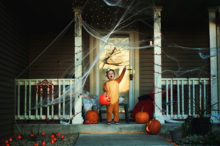 Get an early start on Halloween photos by taking some outdoor photos before it gets dark outside.
