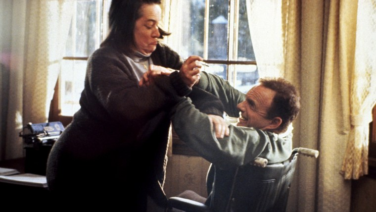 MISERY, Kathy Bates, James Caan, 1990, (c) Columbia/courtesy Everett Collection