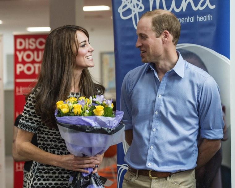 Image: The Duke & Duchess Of Cambridge Mark World Mental Health Day