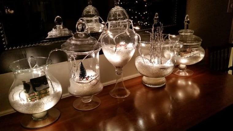 Glass-jar snow globes