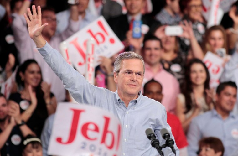 Image: Republican U.S. presidential candidate and former Florida Governor Bush formally announces campaign for the 2016 Republican presidential nomination during kickoff rally in Miami
