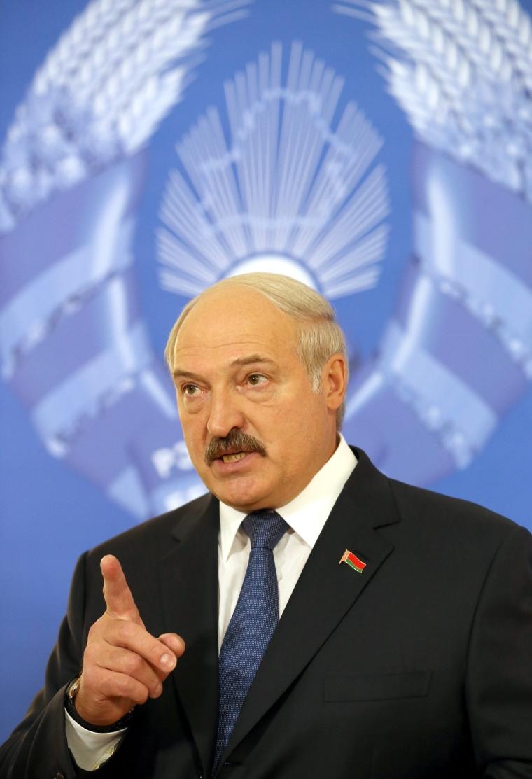 Image: Belarusian President Alexander Lukashenko