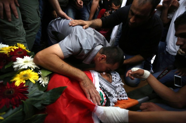 Image: Funeral held for Palestinian boy in Ramallah