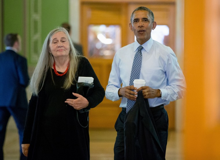 Image: Barack Obama and Marilynne Robinson