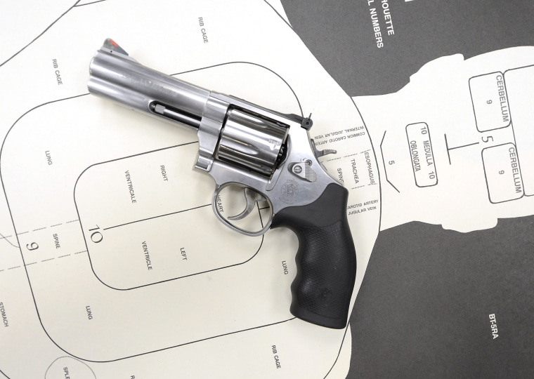 Image:  A Smith & Wesson .357 magnum revolver