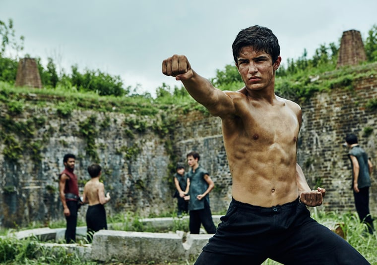"Aramis Knight as M.K. in AMC's original series ""Into the Badlands"""