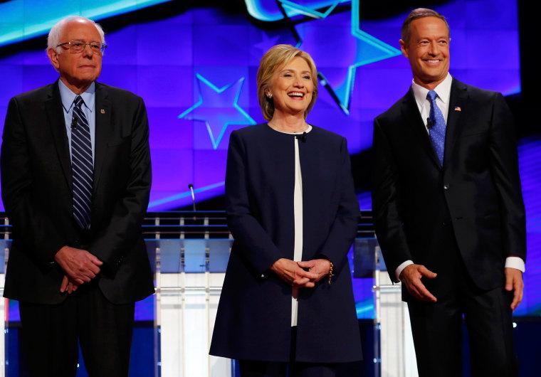 Image: U.S. Democratic Presidential debate