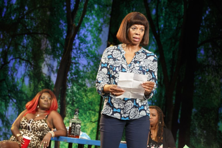 Kim Wayans performs at The Public Theater.