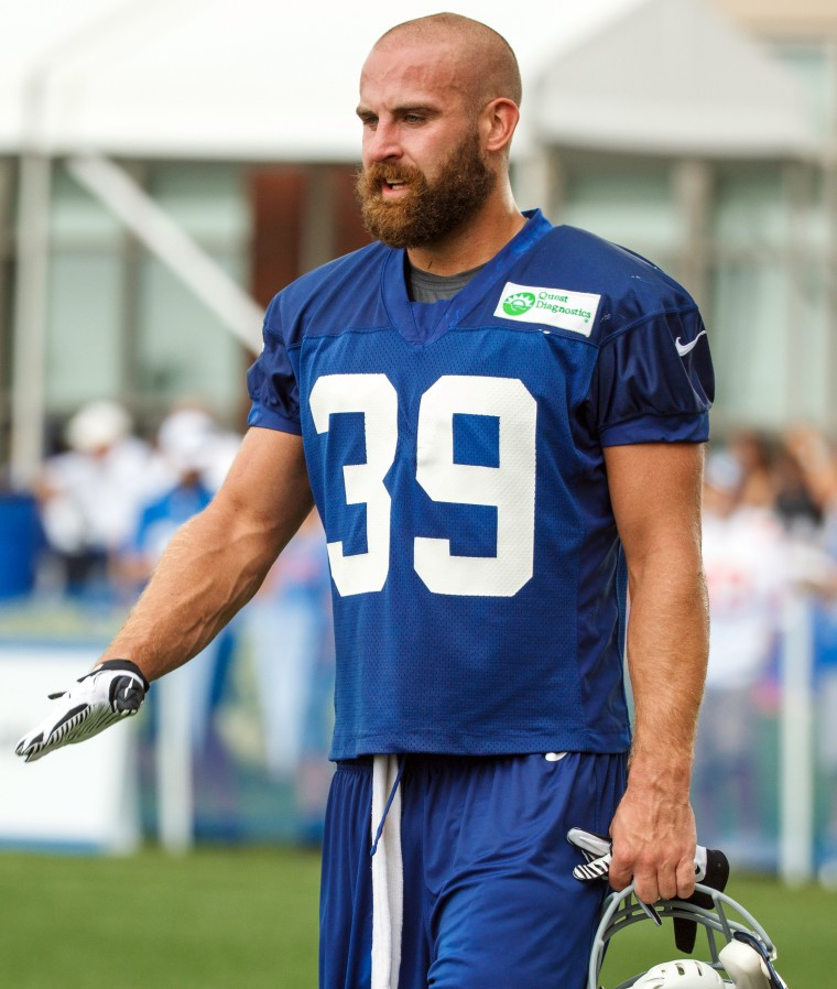 Former New York Giants Player, New York Giants defensive back Tyler Sash, dies at Age 27, pictured on August 8, 2013.