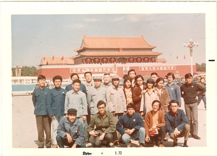 Image: Eric Baculinao (middle of front row) in Beijing in 1971