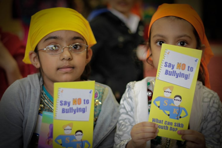 Junior Sikh Coalition's anti-bullying and empowerment training from May 2013 in a Sikh gurdwara in Richmond Hill, New York.